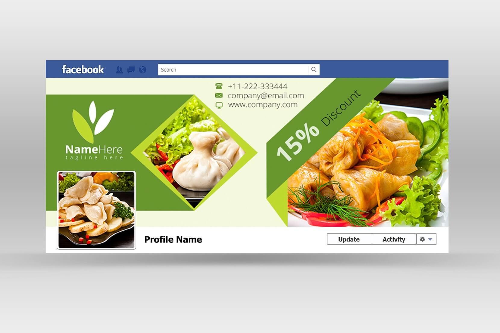 Food Book Cover Photos : Diseño de logotipo propuestas portadas facebook